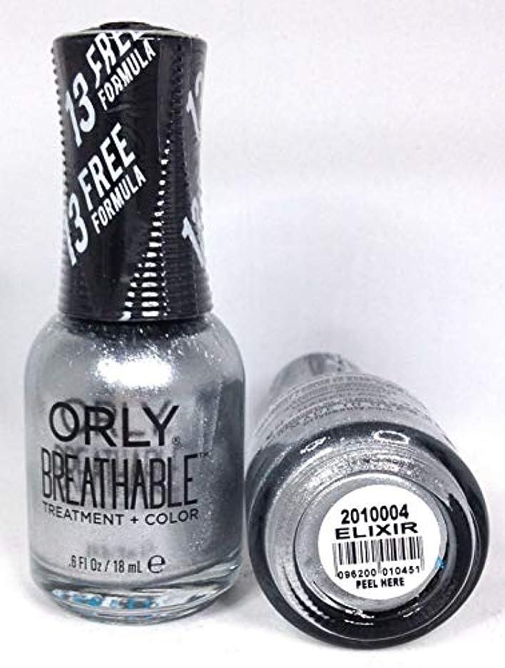 腫瘍破滅ダンプORLY Breathable Lacquer - Treatment+Color - Elixir - 18 mL / 0.6 oz