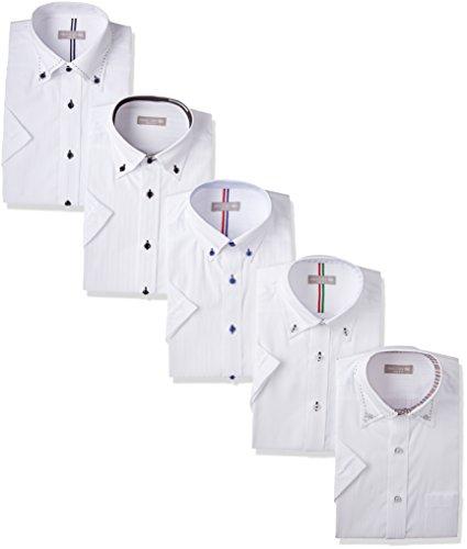 ワイシャツ 5枚セット ドレスシャツ 半袖形態安定(トップ芯加工) メンズ Yシャツ