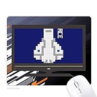 ロケットは宇宙の画素を取る ノンスリップラバーマウスパッドはコンピュータゲームのオフィス