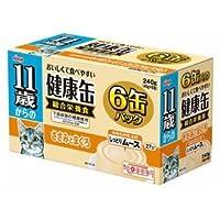 (まとめ)アイシア 11歳からの健康缶ささみとまぐろ40g×6P 【猫用・フード】【ペット用品】【×12セット】