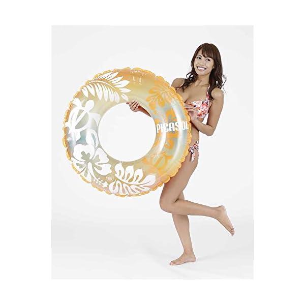 ドウシシャ 浮き輪 オレンジホヌ 100cmの紹介画像2