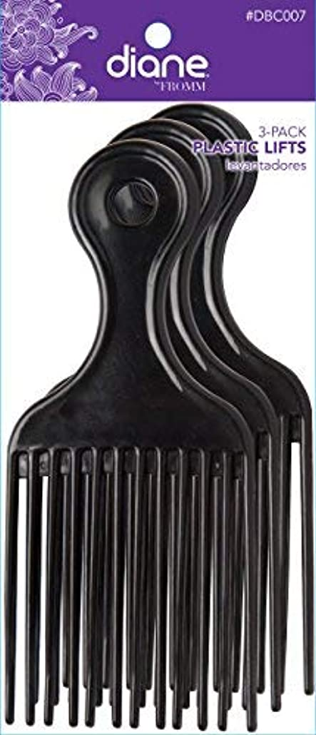 検査官テスト想起Diane Plastic Lift Black (3 PACK) [並行輸入品]