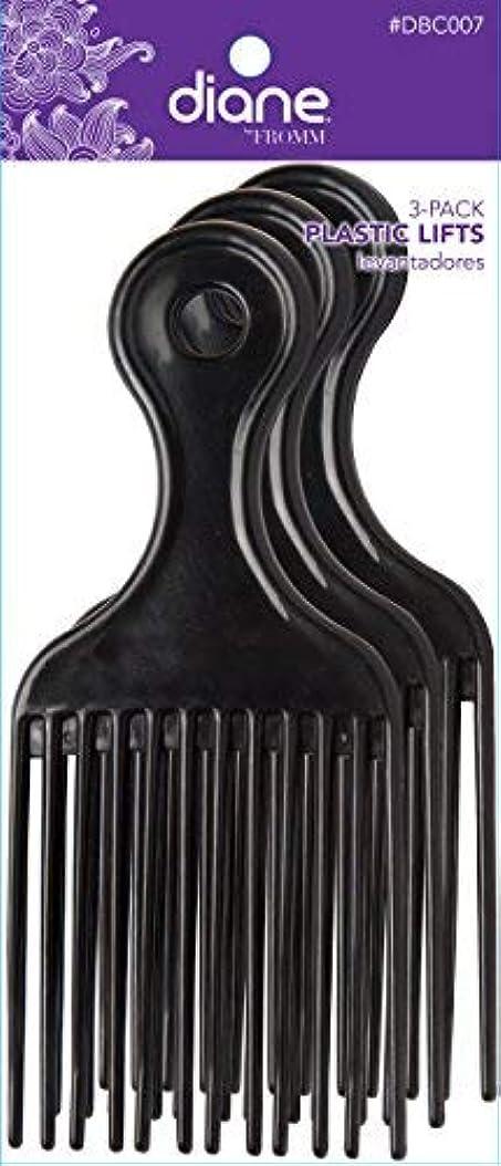 ヒューマニスティック未亡人畝間Diane Plastic Lift Black (3 PACK) [並行輸入品]