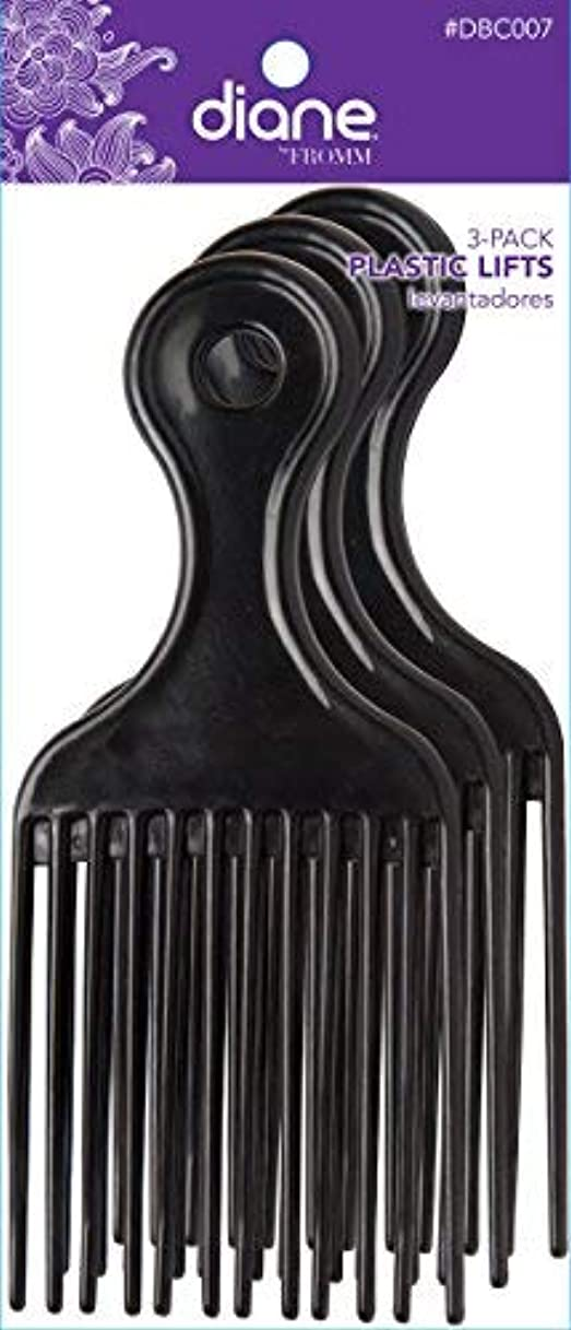 ドロップポールスピリチュアルDiane Plastic Lift Black (3 PACK) [並行輸入品]