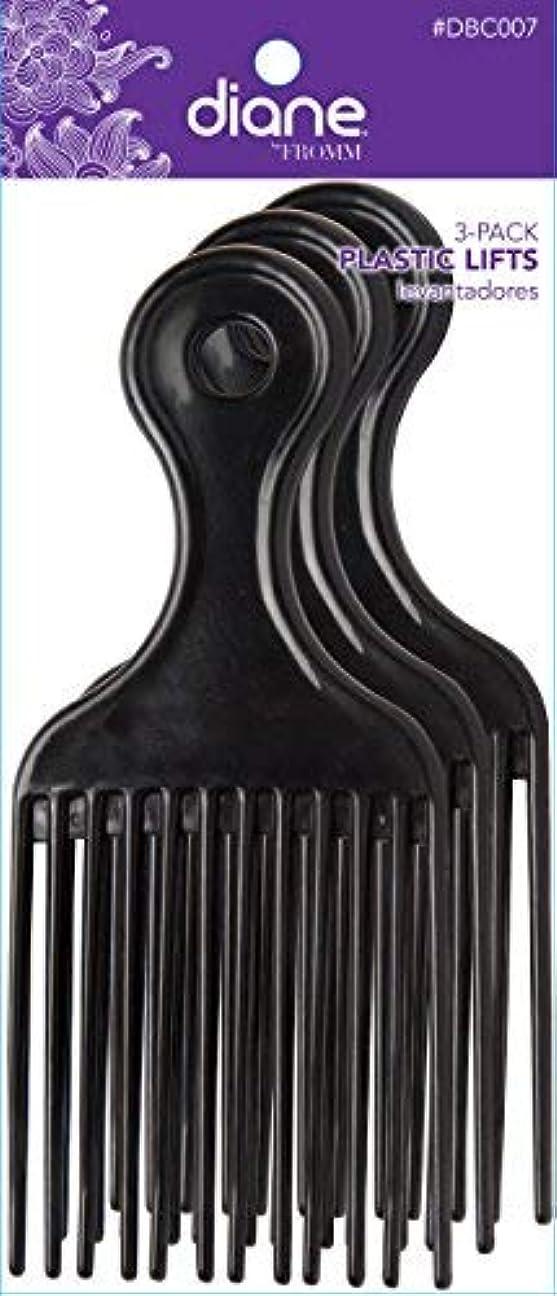 味付け対処ユーザーDiane Plastic Lift Black (3 PACK) [並行輸入品]