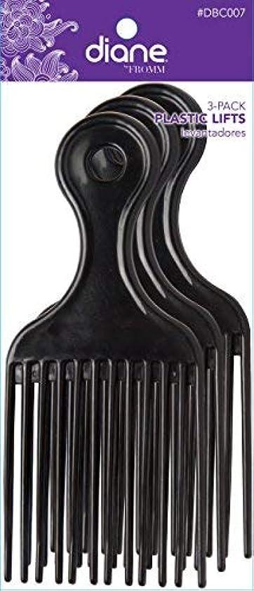 ぬれた掘る遵守するDiane Plastic Lift Black (3 PACK) [並行輸入品]
