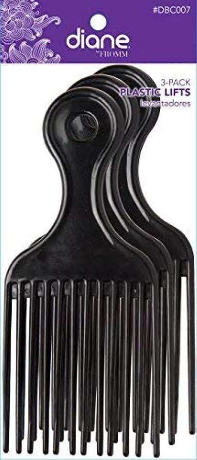 共和党反対したハードリングDiane Plastic Lift Black (3 PACK) [並行輸入品]