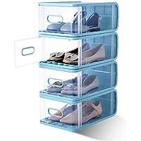 透明プラスチック6パック積み重ね可能なストレージシューズボックス 12.5