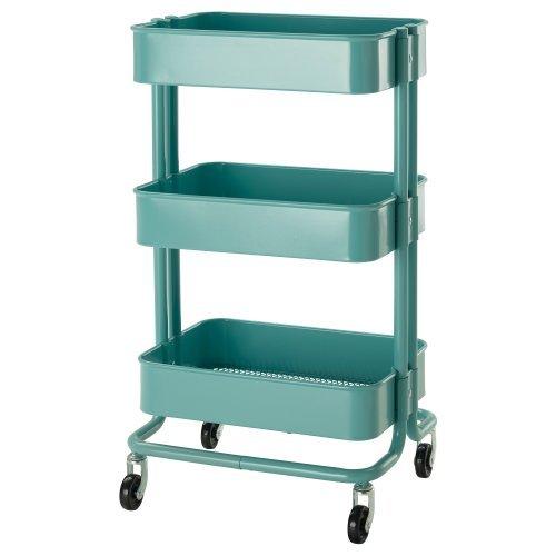 IKEA(イケア) R?SKOG 10216537 キッチンワゴン, ターコ...