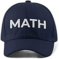 Yang2020 'Math' Hat Cap for Unisex Men & Women 100% Cotton - Blue