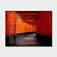 ウォールペインティング 部屋飾り 50x70cmモダンミニマリストリビングルームベッドルームダイニングルーム絵画ファッション人格家の装飾絵画ホテルオフィス赤い風景装飾画