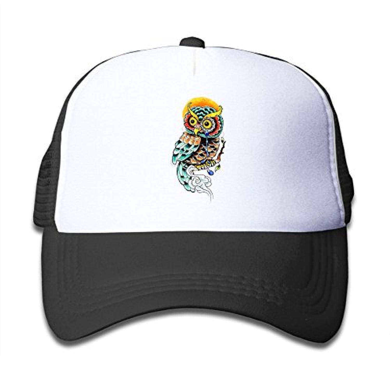 フクロウ 素敵 かわいい おもしろい ファッション 派手 メッシュキャップ 子ども ハット 耐久性 帽子 通学 スポーツ