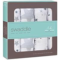 押さえつける、パックあたり4きらめき (Aden & Anais) - Aden + Anais Swaddle, Twinkle 4 per pack [並行輸入品]