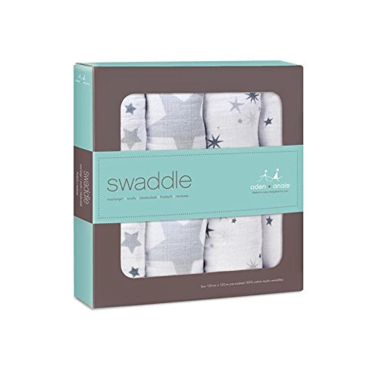 押さえつける、パックあたり4きらめき (Aden & Anais) (x 2) - Aden + Anais Swaddle, Twinkle 4 per pack (Pack of 2) [並行輸入品]