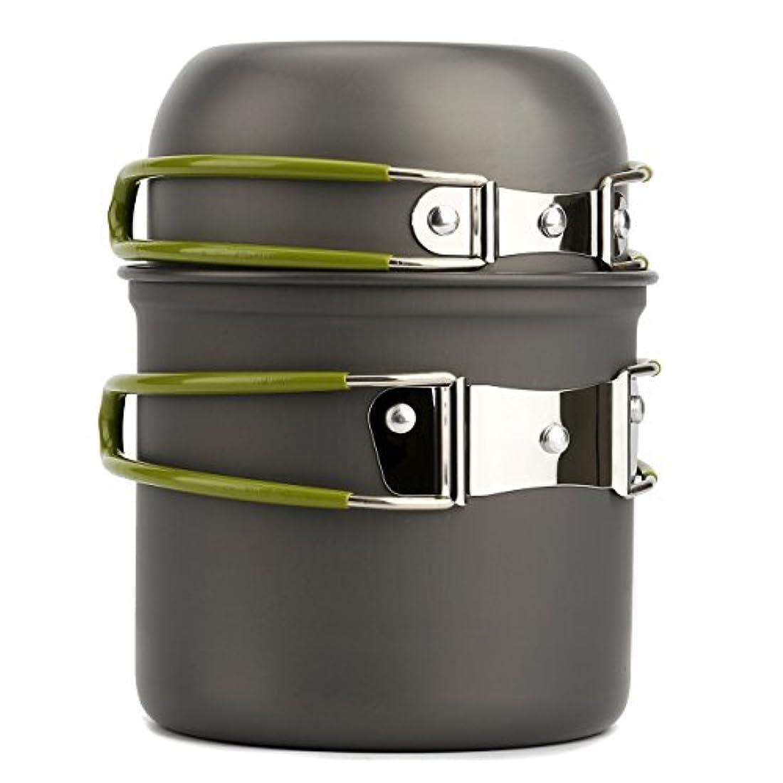 酸化物維持つぶすHappyハッピー耳 コッヘル キャンプ用 ピクニック用 ポータブル 便利 食器    調理器具 収納袋付き バーベキュー クッキング用品  コンパクト