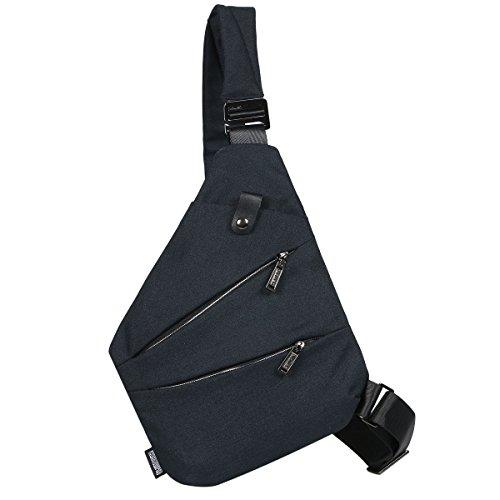 [キャット ハンド] 極薄 ワン ショルダー スリング バッグ 撥水 キャンバス ユニセックス