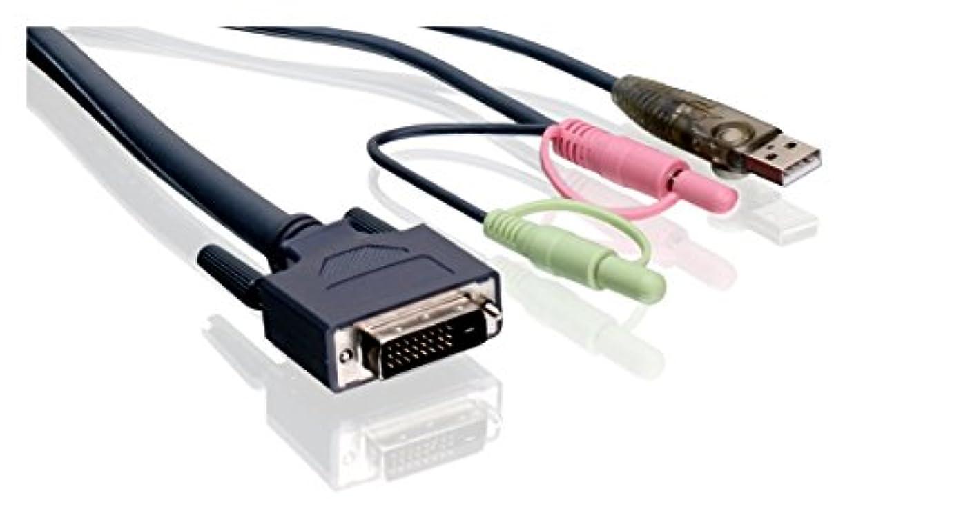ロケット合金結果IOGear Dual-Link 10 Foot DVI KVM Cable with USB and Audio/Mic, TAA Compliant - Black (G2L7D03UDTAA) [並行輸入品]