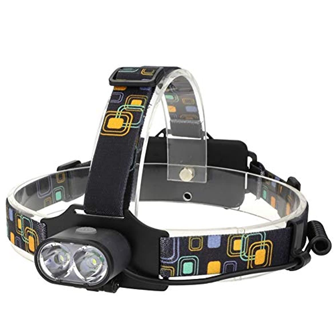 飢饉知らせる深くヘッドライト,多機能登山釣りスーパーブライト防水ロングショットヘッドライト