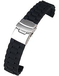 時計バンド  交換ベルト  腕時計ストラップ  防水  シリコーン 長さ調整でき 18mm  ブラック