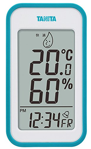 タニタ デジタル温湿度計 置き掛け両用タイプ/マグネット付 ブルー TT-559-BL
