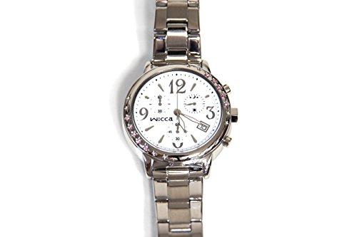 ウィッカ wicca レディース 腕時計 クロノグラフ ホワイト スター ブレスウォッチ BM1-113-11 新品 海外モデル【並行輸入品】