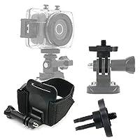DURAGADGETプレミアム品質Emersonカメラアクションカメラ手首マウント–調節可能手首ストラップハンドルマウントFastening for新しいEmerson HDアクションカムevc455
