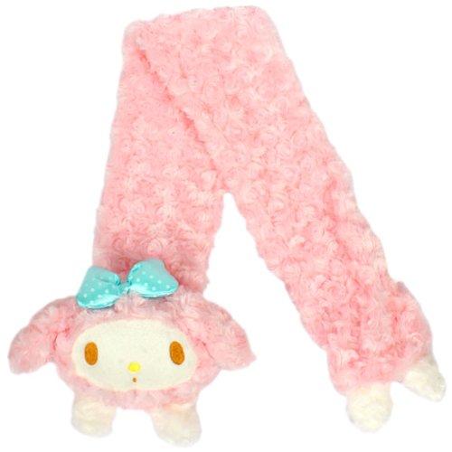 【マイメロディ】大人ボアマフラー ピンク☆サンリオ アウターあったか小物シリーズ