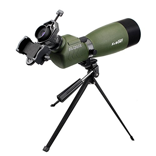 SVBONY SV14 フィールドスコープ 望遠鏡 単眼鏡 高倍率 防水 天体観測 野鳥観察 スマホアダプタ付き 日本語マニュアル付き (傾斜型)