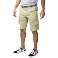 VINTAGE GENES 1891 Mens 100% Cotton Cargo Shorts with Multiple Pockets (See More Colors and Sizes)