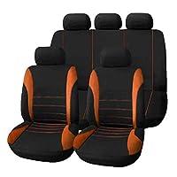 AAcreatspace 9ピース/セットカーシートカバー快適な防塵シートプロテクターパッドカバー車両用ユニバーサルフルシートカバー