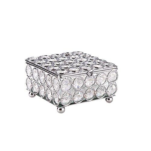 [해외]Feyarl 보석 상자 보석 주머니 보석 상자 보석 저장 지갑 직사각형 크리스탈 제품 고루도/Feyarl jewelry box jewelry put jewelry box jewelry storage accessory rectangular crystal made gold