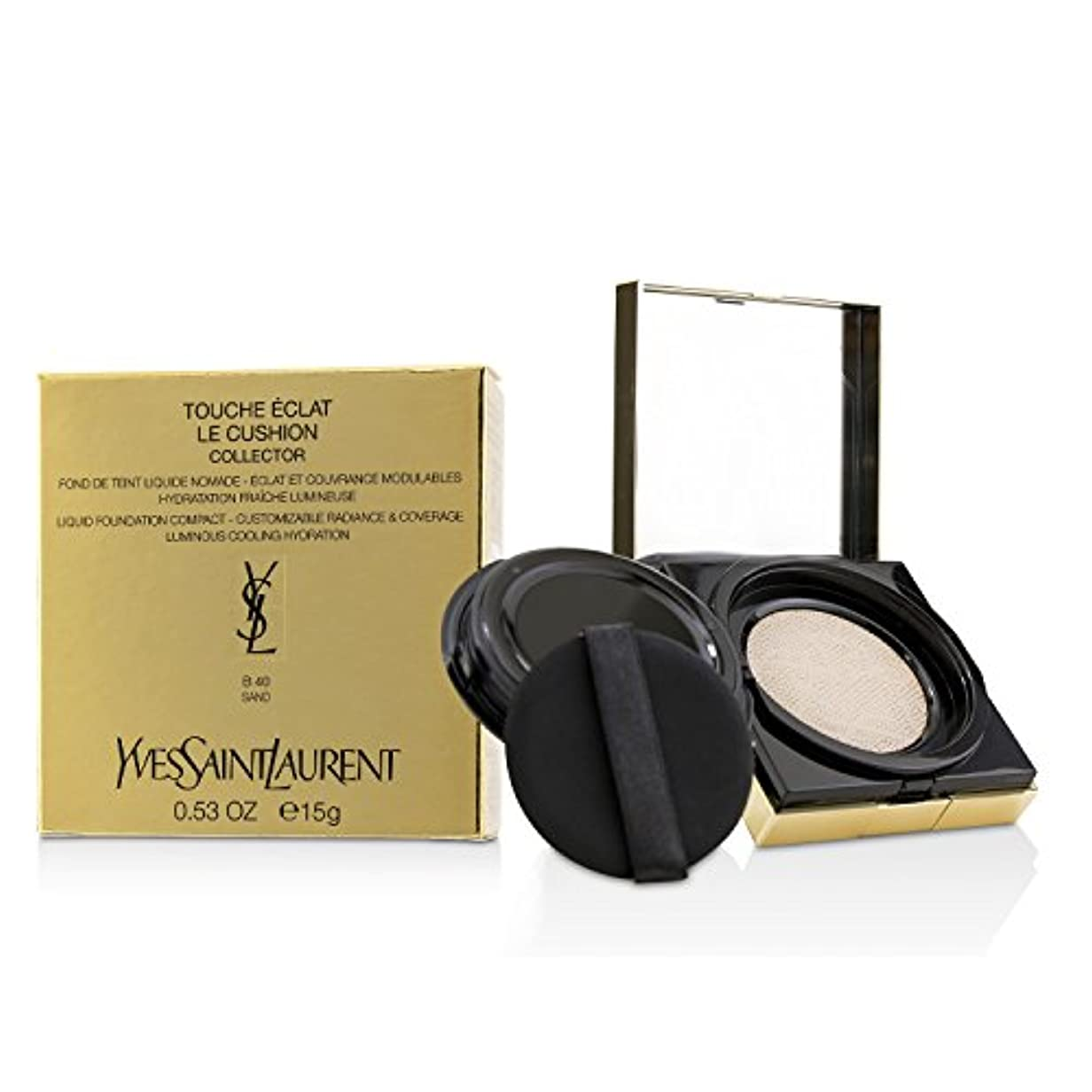件名葉を集めるクルーイヴサンローラン Touche Eclat Le Cushion Liquid Foundation Compact - #B40 Sand (Collector) 15g/0.53oz並行輸入品