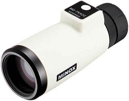 MINOX 単眼鏡 #62214 MD 7X42C WHITE 7倍42口径 防水 ホワイト 200476