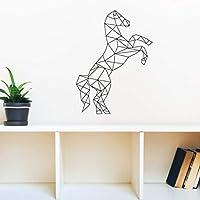 Ansyny 幾何学的な馬壁デカールステッカービニール壁紙ホームデカール寝室の装飾の装飾壁アート壁画Muursticker 42 * 51センチ