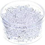 Push Pins 600 Count, Clear Thumb Tacks with Stainless Steel Point and Standard Plastic Head