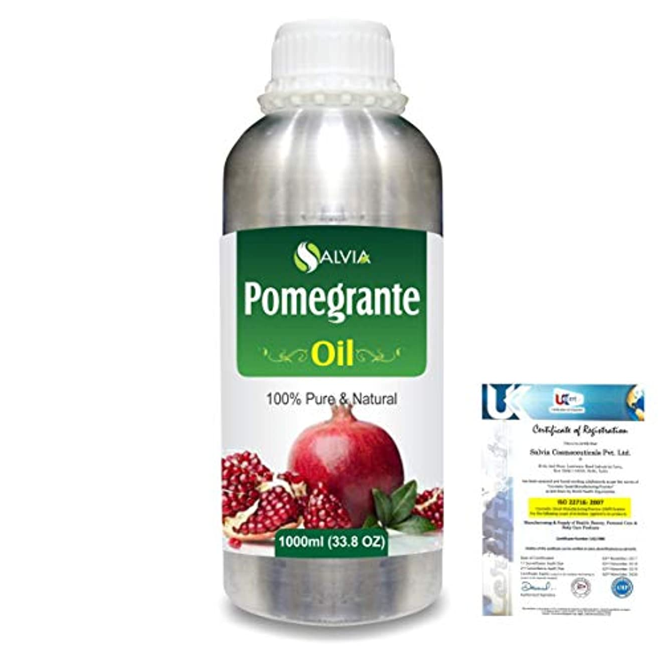 同情的鍔気まぐれなPomegranate (Punica Granatum) 100% Pure Natural Carrier Oil 1000ml/33.8fl.oz.