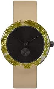 [アナログウォッチコー] 腕時計 ボタニスト トナカイゴケ(黒文字盤)革バンド 正規輸入品 (クリーム)