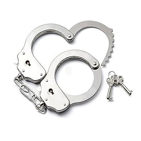 Qufan 手錠 おもちゃ sm 警察 コスプレ 本物 そっくり子供 大人 兼用 フリサイズ