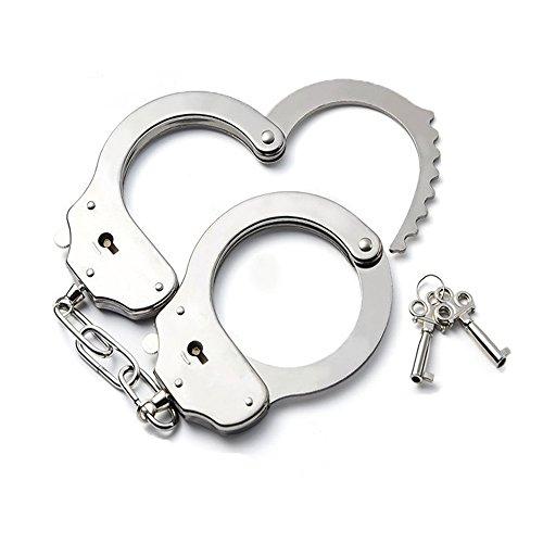 Qufan 手錠 本物 そっくり sm 警察 コスプレ 子供 大人 兼用 フリサイズ