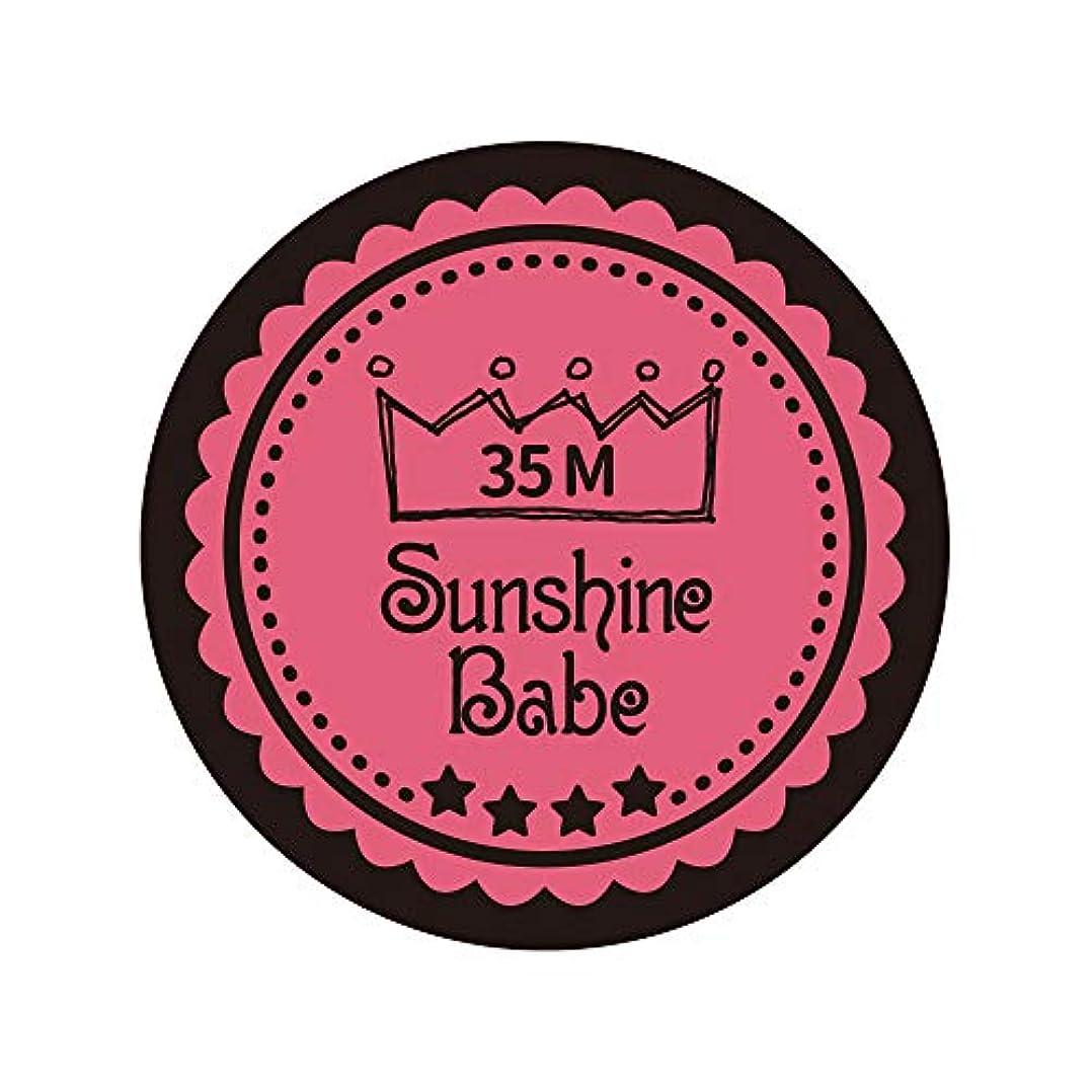 団結する動揺させるアクセスできないSunshine Babe カラージェル 35M ローズピンク 4g UV/LED対応