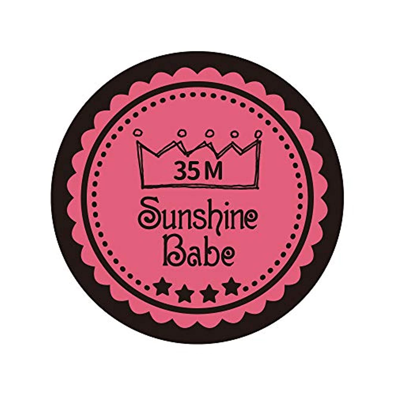 絶滅させる道徳教育険しいSunshine Babe カラージェル 35M ローズピンク 4g UV/LED対応