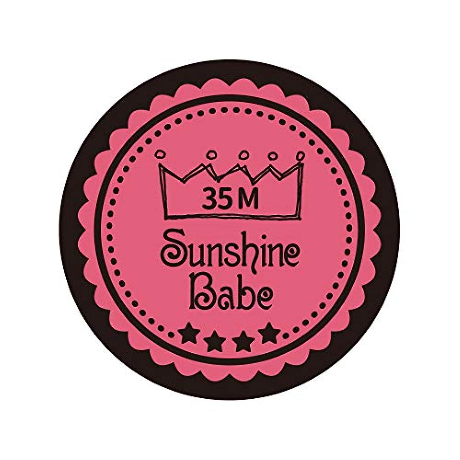 四分円頂点実行するSunshine Babe カラージェル 35M ローズピンク 4g UV/LED対応