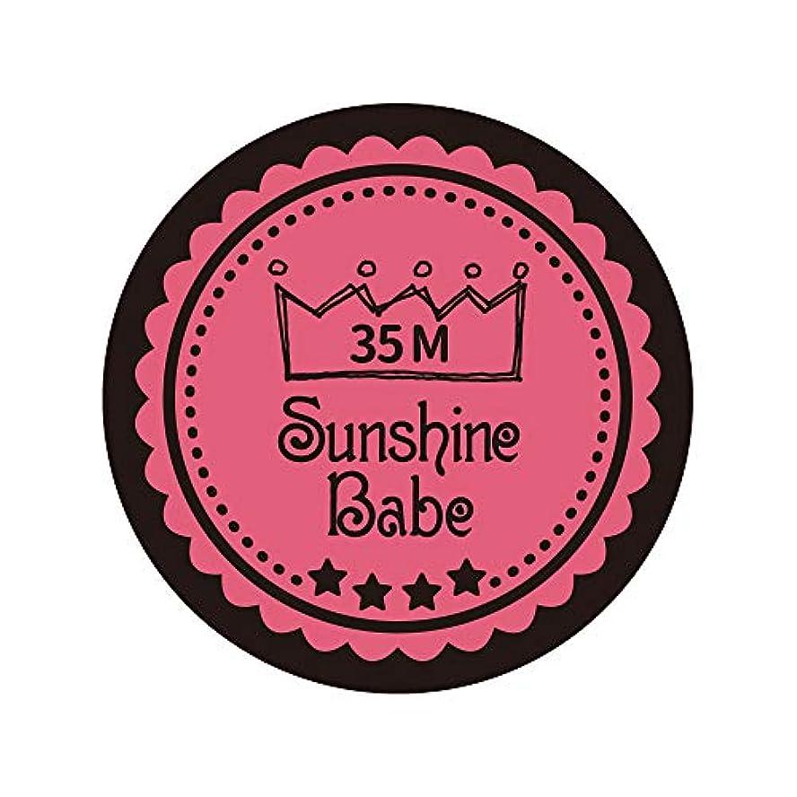 ディスク詳細なボトルネックSunshine Babe カラージェル 35M ローズピンク 4g UV/LED対応