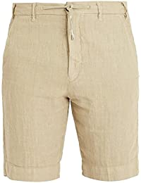 (ジェイダブリューブライン) J.W. Brine メンズ ボトムス・パンツ ショートパンツ Drawstring-waist linen shorts [並行輸入品]