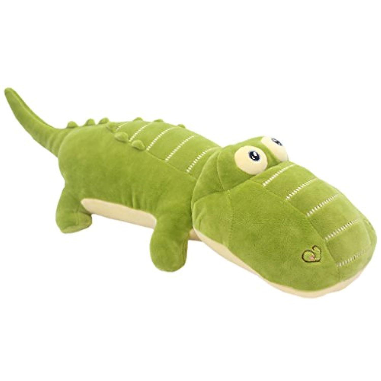 TAGLN おもちゃの動物ぬいぐるみワニ子供の枕 グリーン 50 CM
