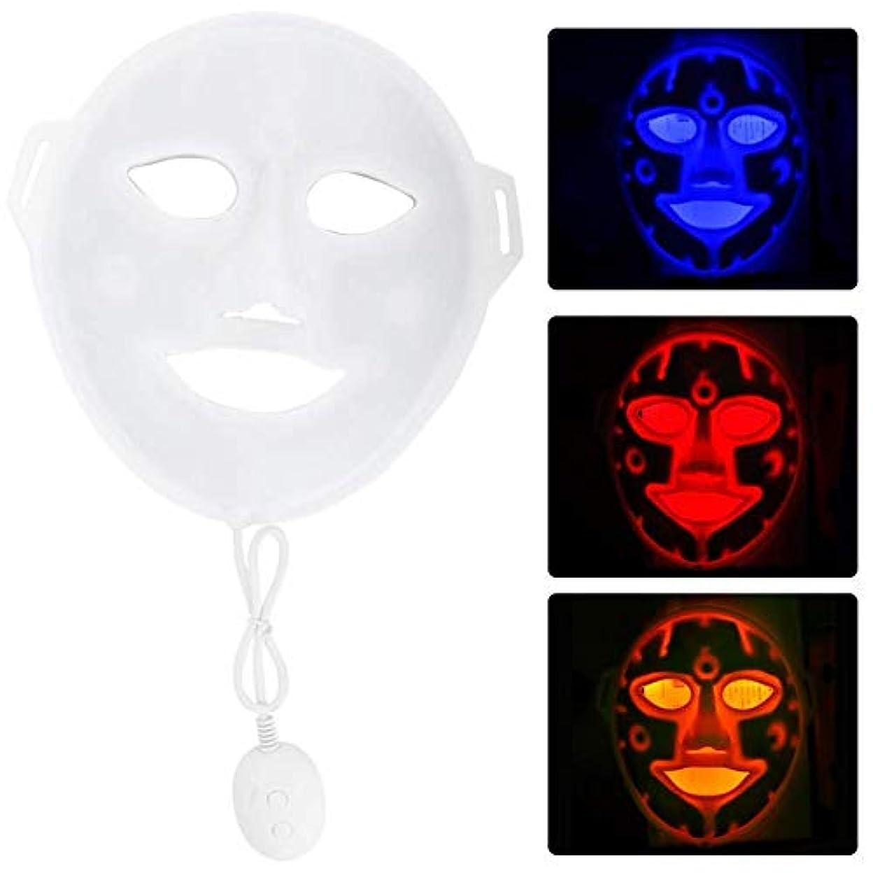 艶真夜中説明的3色はマスクの顔の皮療法機械反老化の電気マスクの表面処置の美用具を導きました