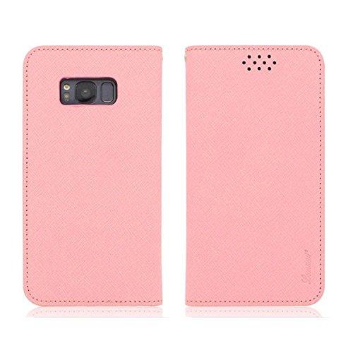 Galaxy S4 / ギャラクシー S4 (SC-04E) 対応 ケース Saffiano Leather Flip サフィアノ レザー フリップ ウォーレット ケース スマホ カバー Pink / ピンク