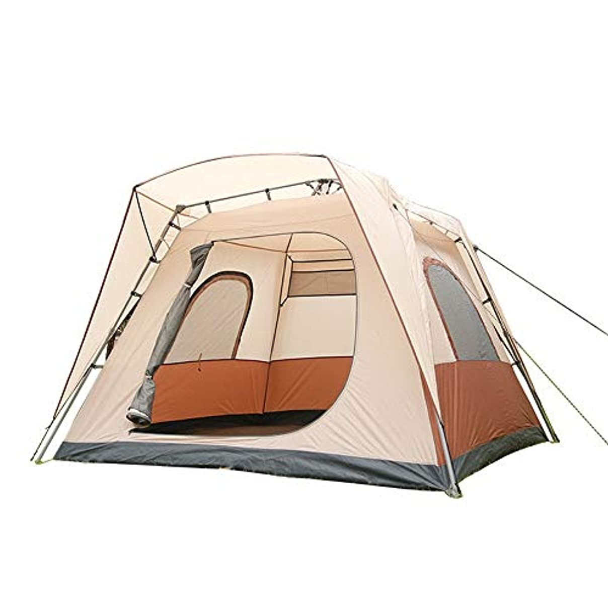 従順な道徳教育フィードバックWppolika 自動インスタント屋外キャンプテント自動テント5-8人防水日焼け止め防雨PU2000mm油圧スプリングテント210 Dオックスフォード布
