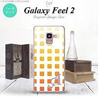 SC-02L Galaxy Feel2 スマホケース カバー スクエア オレンジ 【対応機種:Galaxy Feel2 SC-02L】【アルファベット [L]】