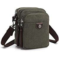 Wukong Mens Canvas Shoulder Bags IPAD Backpack Canvas Daypack For Outdoor